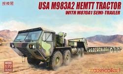 M983A2 HEMTT Oshkosh Corporation & M870A1 Load King - MODELCOLLECT UA72083 1/72