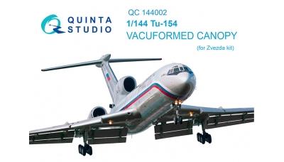 Ту-154М Туполев. Комплект остекления вакуумный (ЗВЕЗДА) - QUINTA STUDIO QC144002 1/144
