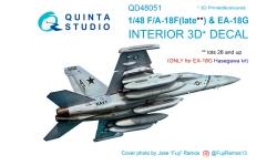 EA-18G Growler & F/A-18F Super Hornet, Boeing. 3D декали (HASEGAWA) - QUINTA STUDIO QD48051 1/48