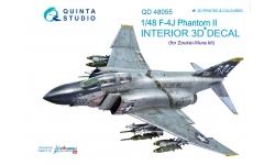F-4J McDonnell Douglas, Phantom II. 3D декали (ZOUKEI-MURA) - QUINTA STUDIO QD48055 1/48