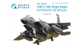 F-15E McDonnell Douglas, Strike Eagle. 3D декали (GREAT WALL HOBBY) - QUINTA STUDIO QD48090 1/48