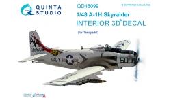 A-1H (AD-6) Douglas, Skyraider. 3D декали (TAMIYA) - QUINTA STUDIO QD48099 1/48