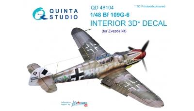 Bf 109G-6 Messerschmitt. 3D декали (ЗВЕЗДА) - QUINTA STUDIO QD48104 1/48