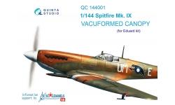 Spitfire Mk IXc Supermarine. Фонарь вакуумный (EDUARD) - QUINTA STUDIO QC144001 1/144