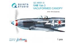 Як-3 Яковлев. Фонарь вакуумный (ЗВЕЗДА) - QUINTA STUDIO QC48001-S 1/48