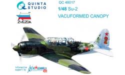 Су-2 (ББ-1) Сухой. Комплект остекления вакуумный (ЗВЕЗДА) - QUINTA STUDIO QC48017 1/48
