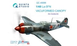 Ла-5ФН Лавочкин. Фонарь вакуумный (ЗВЕЗДА) - QUINTA STUDIO QC48066 1/48
