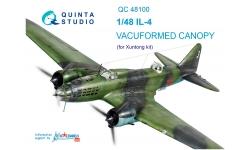 Ил-4 Ильюшин. Комплект остекления вакуумный (XUNTONG MODEL) - QUINTA STUDIO QC48100 1/48