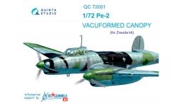 Пе-2 Петляков. Комплект остекления вакуумный (ЗВЕЗДА) - QUINTA STUDIO QC72001 1/72