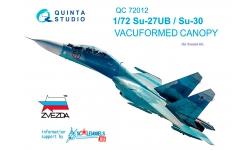 Су-27УБ/Су-30СМ Сухой. Фонарь вакуумный (ЗВЕЗДА) - QUINTA STUDIO QC72012 1/72