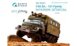 ЗиЛ-131. 3D декали - QUINTA STUDIO QD35001 1/35
