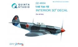 Як-1Б Яковлев. 3D декали - QUINTA STUDIO QD48004 1/48