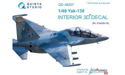 Як-130 Яковлев. 3D декали (ЗВЕЗДА) - QUINTA STUDIO QD48007 1/48