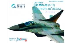 МиГ-29 (9-12). 3D декали (GREAT WALL HOBBY) - QUINTA STUDIO QD48008 1/48