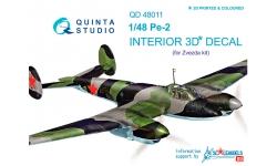 Пе-2 Петляков. 3D декали (ЗВЕЗДА) - QUINTA STUDIO QD48011 1/48
