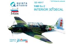 Су-2 (ББ-1) Сухой. 3D декали (ЗВЕЗДА) - QUINTA STUDIO QD48017 1/48