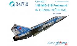 МиГ-31Б. 3D декали (AMK) - QUINTA STUDIO QD48027 1/48