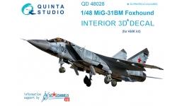 МиГ-31БМ. 3D декали (AMK) - QUINTA STUDIO QD48028 1/48