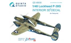 P-38G Lockheed, Lightning. 3D декали (TAMIYA) - QUINTA STUDIO QD48030 1/48