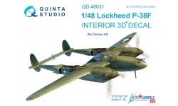 P-38F Lockheed, Lightning. 3D декали (TAMIYA) - QUINTA STUDIO QD48031 1/48