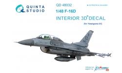 F-16D General Dynamics, Fighting Falcon. 3D декали (HASEGAWA) - QUINTA STUDIO QD48032 1/48