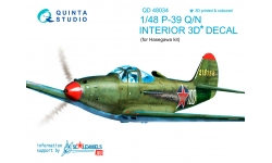 P-39N/Q Bell, Airacobra. 3D декали (HASEGAWA) - QUINTA STUDIO QD48034 1/48