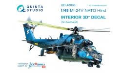 Ми-24В Миль. 3D декали (ЗВЕЗДА) - QUINTA STUDIO QD48036 1/48