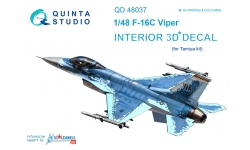 F-16C General Dynamics, Fighting Falcon. 3D декали (TAMIYA) - QUINTA STUDIO QD48037 1/48