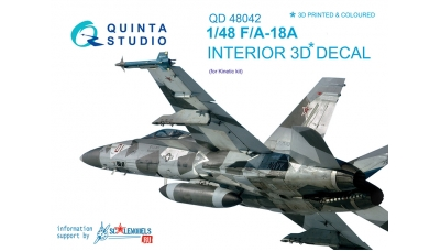 F/A-18A McDonnell Douglas, Hornet. 3D декали (KINETIC) - QUINTA STUDIO QD48042 1/48
