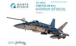 F/A-18A+ McDonnell Douglas, Hornet. 3D декали (KINETIC) - QUINTA STUDIO QD48043 1/48