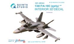 F/A-18C McDonnell Douglas, Hornet. 3D декали (KINETIC) - QUINTA STUDIO QD48044 1/48