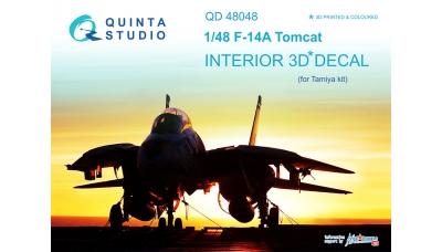 F-14A Grumman, Tomcat. 3D декали (TAMIYA) - QUINTA STUDIO QD48048 1/48
