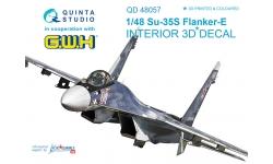 Су-35С Сухой. 3D декали (GREAT WALL HOBBY) - QUINTA STUDIO QD48057 1/48