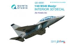 M-346 Alenia Aermacchi, Master. 3D декали (KINETIC) - QUINTA STUDIO QD48061 1/48