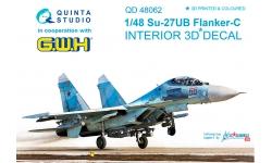 Су-27УБ Сухой. 3D декали (GREAT WALL HOBBY) - QUINTA STUDIO QD48062 1/48