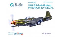 P-51D North American, Mustang. 3D декали (EDUARD) - QUINTA STUDIO QD48065 1/48