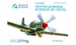 P-51D North American, Mustang. 3D декали (EDUARD) - QUINTA STUDIO QD48069 1/48