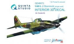 Ил-2 Ильюшин. 3D декали (ЗВЕЗДА) - QUINTA STUDIO QD48072 1/48