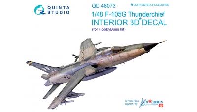 F-105G Republic, Thunderchief. 3D декали (HOBBY BOSS) - QUINTA STUDIO QD48073 1/48