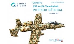 A-10A Fairchild Republic, Thunderbolt II. 3D декали (ITALERI) - QUINTA STUDIO QD48076 1/48