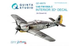 Fw 190A-3 Focke-Wulf. 3D декали (EDUARD) - QUINTA STUDIO QD48079 1/48