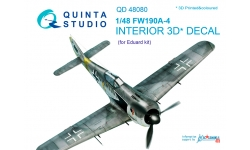 Fw 190A-4 Focke-Wulf. 3D декали (EDUARD) - QUINTA STUDIO QD48080 1/48
