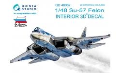 Су-57 Сухой. 3D декали (ЗВЕЗДА) - QUINTA STUDIO QD48082 1/48