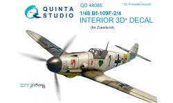Bf 109F-2/F-4 Messerschmitt. 3D декали (ЗВЕЗДА) - QUINTA STUDIO QD48085 1/48