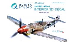 Bf 109G-6 Messerschmitt. 3D декали (EDUARD) - QUINTA STUDIO QD48094 1/48