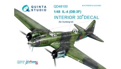 Ил-4 Ильюшин. 3D декали (XUNTONG MODEL) - QUINTA STUDIO QD48100 1/48