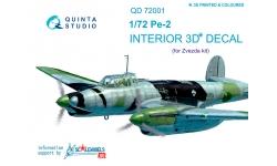 Пе-2 Петляков. 3D декали (ЗВЕЗДА) - QUINTA STUDIO QD72001 1/72