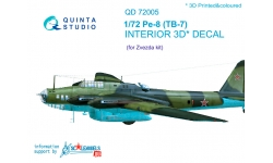 Пе-8 (ТБ-7) Петляков. 3D декали (ЗВЕЗДА) - QUINTA STUDIO QD72005 1/72