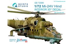 Ми-24В Миль. 3D декали (ЗВЕЗДА) - QUINTA STUDIO QD72006 1/72
