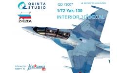 Як-130 Яковлев. 3D декали (ЗВЕЗДА) - QUINTA STUDIO QD72007 1/72